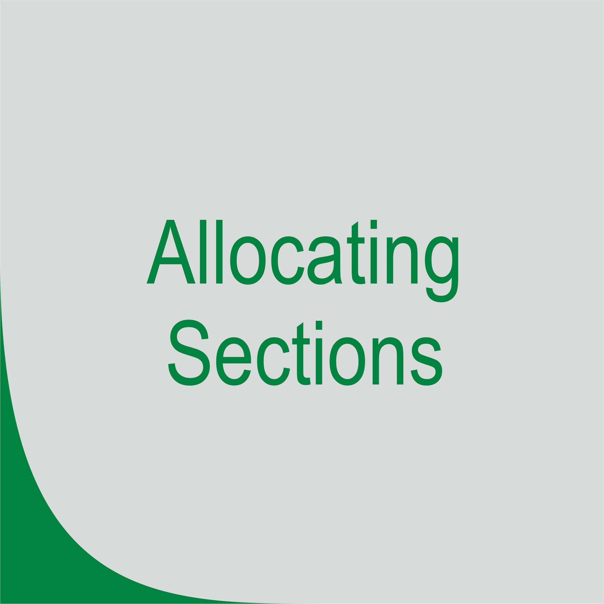 Allocating Section Planogram (POG)
